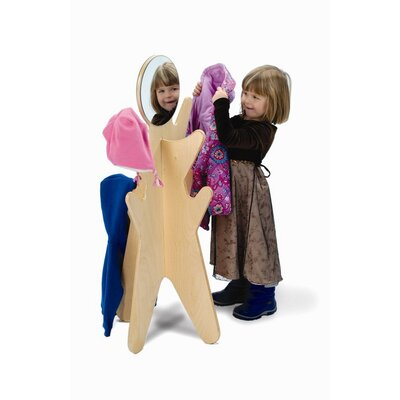 Whitney Brothers Simple Coat Rack with Mirror