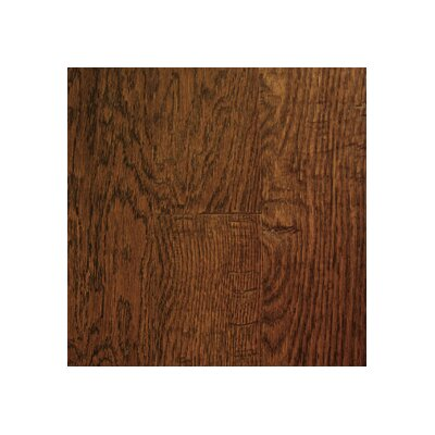"Mullican Flooring Chalmette Hand Sculpted 5"" Engineered Oak Flooring in Ebony"