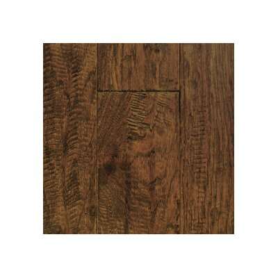 "Mullican Flooring Chalmette Hand Sculpted 5"" Engineered Hickory Flooring in Provincial"