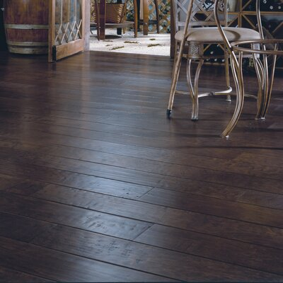 "Anderson Floors Dellamano 6-1/4"" Engineered Maple Flooring in Café Nero"