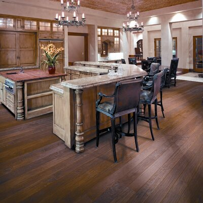 "Anderson Floors Hickory Forge 5"" Engineered Hickory Flooring in Golden Ore"