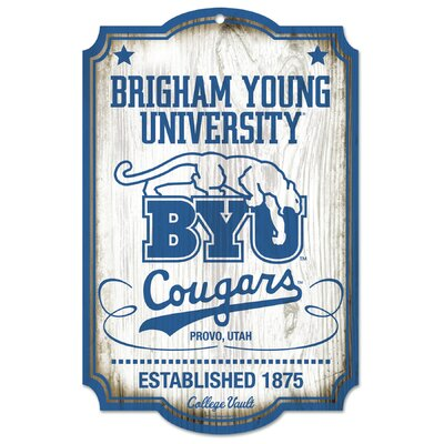 Wincraft, Inc. NCAA Brigham Young University College Vault Wood Sign