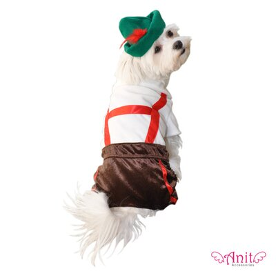 Anit Accessories Lederhosen Dog Costume