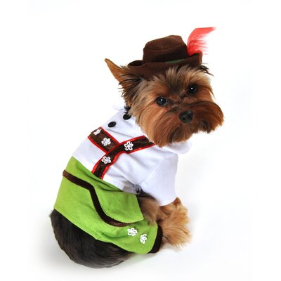 Alpine Boy Lederhosen Dog Costume