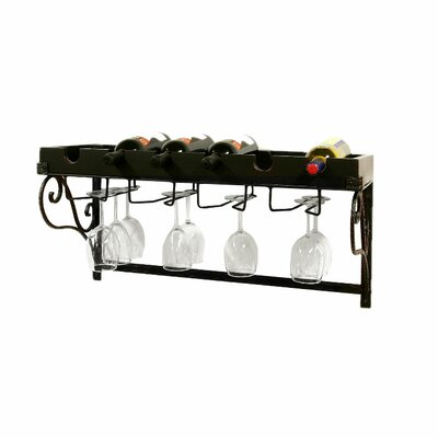 Creative Creations Xiafeng 6 Bottle Wall Mounted Wine Rack  amp  Reviews