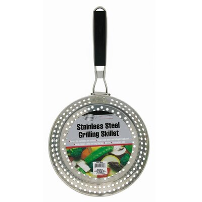 "Mr. Bar-B-Q 12"" Platinum Prestige Stainless Steel Grilling Skillet"
