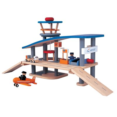 Plan Toys City Airport-Wooden Roof