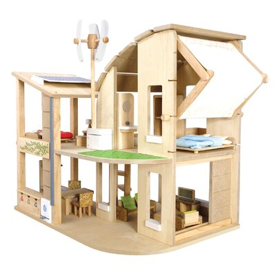 Plan Toys Green Dollhouse with Furniture