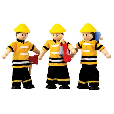 Plan Toys Dollhouse Fire Fighter Set