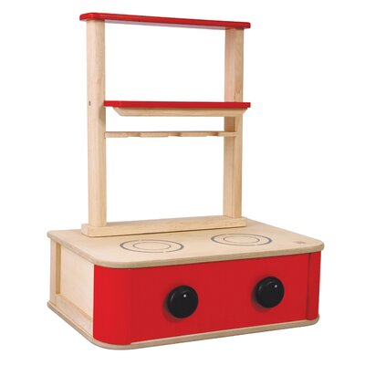 Plan Toys Large Scale Kitchen Stove in Red