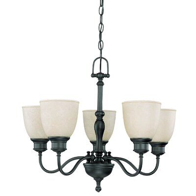 Nuvo Lighting Bella Arm Up 5 Light Chandelier