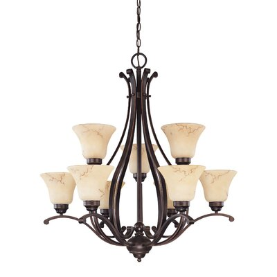Nuvo Lighting Anastasia 9 Light Chandelier