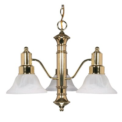 Nuvo Lighting Gotham 3 Light Chandelier