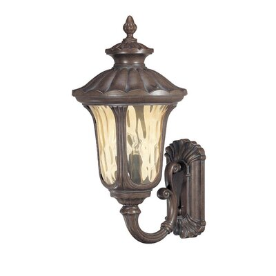 Nuvo Lighting Beaumont  Large Arm Down Wall Lantern in Fruitwood
