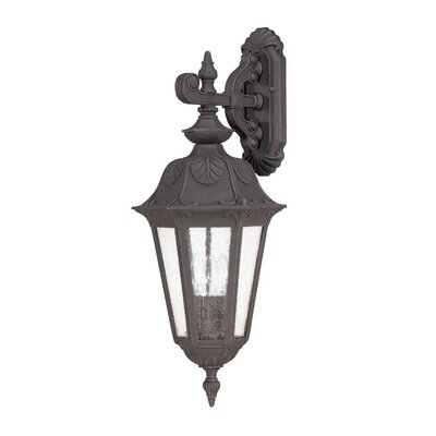 Nuvo Lighting Cortland  Arm Down Wall Lantern in Satin Iron Ore