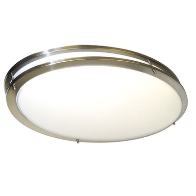 "Nuvo Lighting Glamour 4"" x 18"" Energy Star Flush Mount"