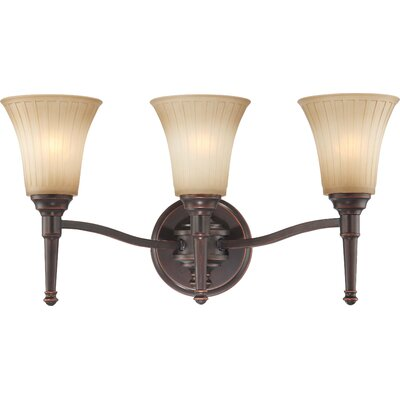Nuvo Lighting Franklin Three Light Bath Vanity in Georgetown Bronze