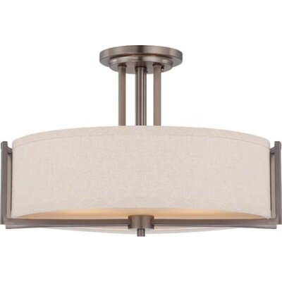 Nuvo Lighting Gemini 3 Light Semi Flush Mount