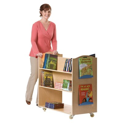 "Guidecraft School Library 37.5"" Book Cart"
