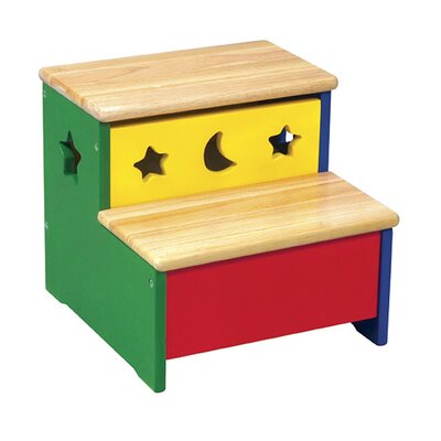 Guidecraft Moon and Stars 2-Step Storage Step Stool