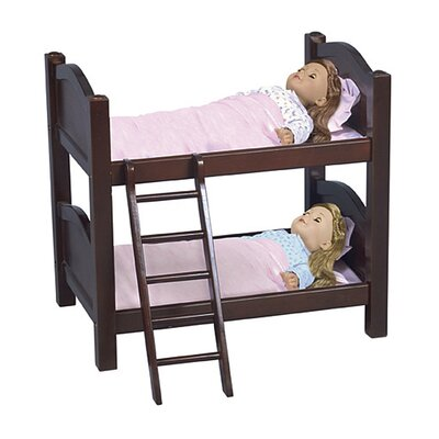 Guidecraft Doll Bunk Bed in Espresso