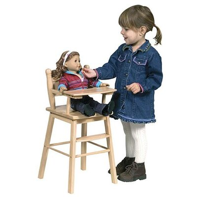 Guidecraft Doll High Chair in Natural