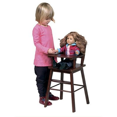 Guidecraft Doll High Chair in Espresso