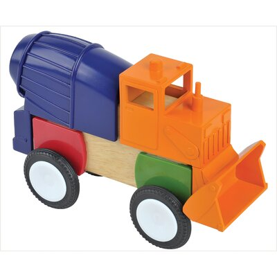 Guidecraft Block Mates Construction Vehicle Set (Set of 4)