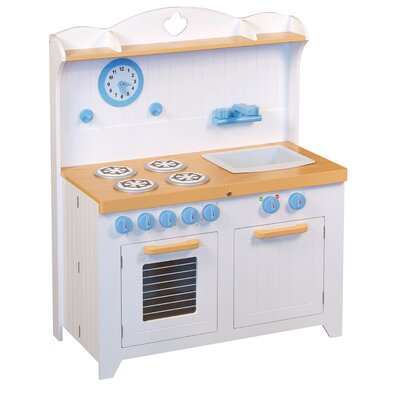 Guidecraft 6 Piece Hideaway Country Kitchen Set