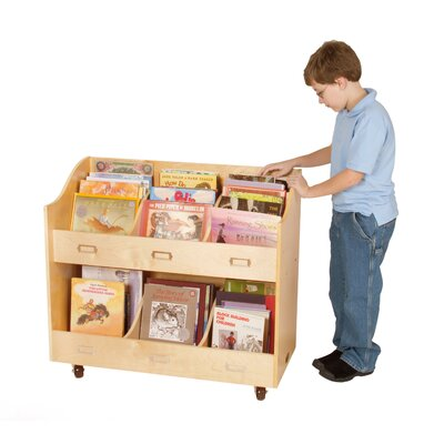 Guidecraft Mobile Cart Book Display