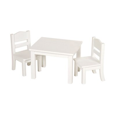 Doll Table and Chair Set in White