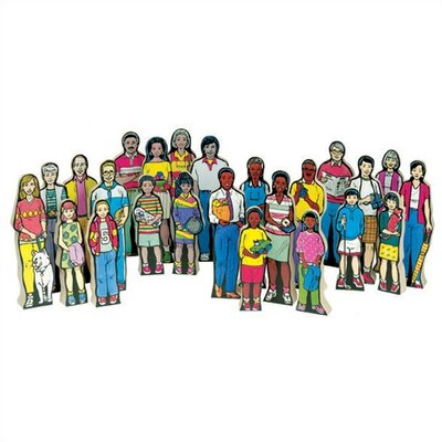 Guidecraft Multi-Cultural Family Figures Kit (Set of 24)