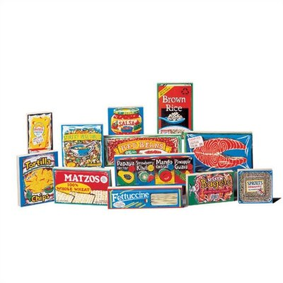 Guidecraft Play Kitchen Wooden International Foods Products (Set of 12)