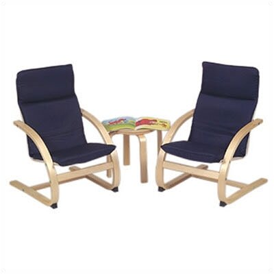 Red Rocker 3 Piece Kiddie Chair Set