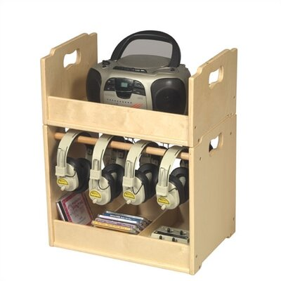 "Guidecraft 22.75"" Stacking Audio Storage Units"