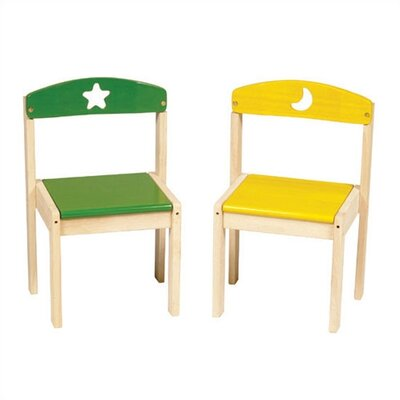 Guidecraft Moon and Stars Extra Kid's Chair (Set of 2)
