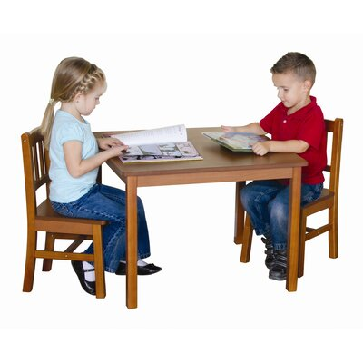 Guidecraft New Mission Kid's 3 Piece Table and Chair Set