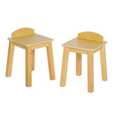 Guidecraft Dramatic Play Kids Café Kitchen Stool (Set of 2)