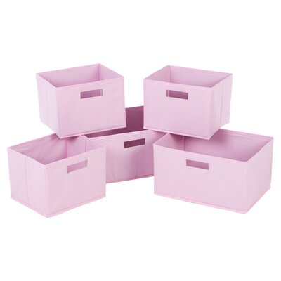 Guidecraft Classic Pink Basket (Set of 5)