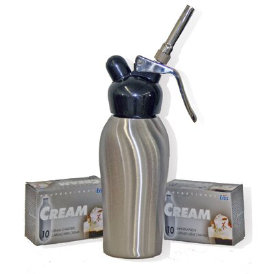 Liss Dessert Chef 1 Pint Cream Whipper in Brushed Stainless Steel