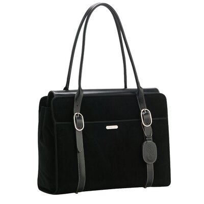 Signature Suede Everyday Laptop Zipper Portfolio Tote Bag