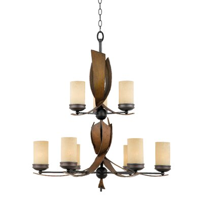 Varaluz Recycled Aizen 9 Light Chandelier