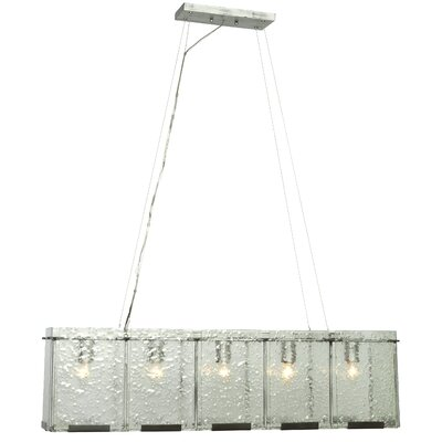 Varaluz Recycled Rain Pendant - Linear 5 Light