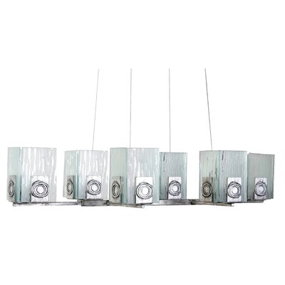Varaluz Recycled Polar 6 Light Oblong Chandelier