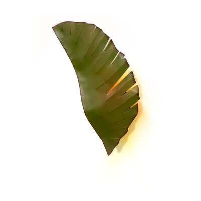 Varaluz Recycled Banana Leaf Sconce