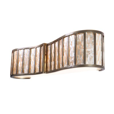 Varaluz Affinity Sustainable Shell Three Bath Light in New Bronze