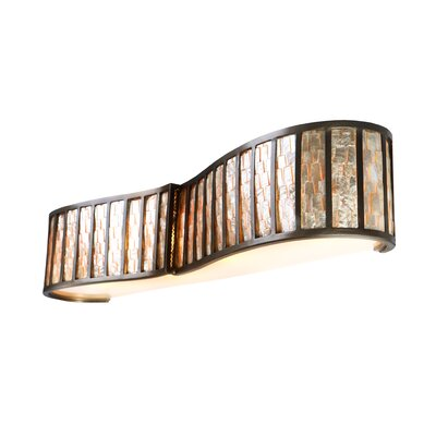 Varaluz Affinity Sustainable Shell Four Bath Light in New Bronze