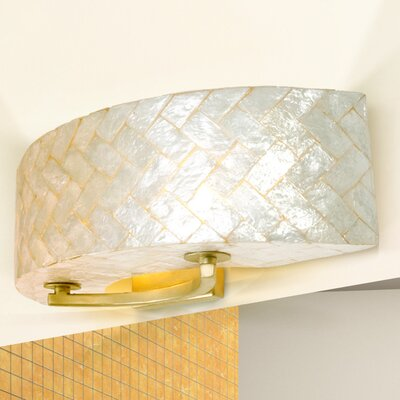 Varaluz Radius Crushed Capiz 2 Light Bath Vanity Light