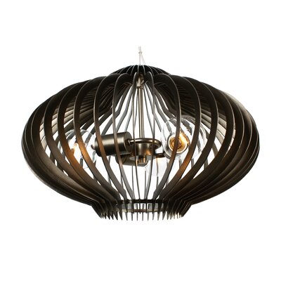 Clout 3 Light Clubs Drum Foyer Pendant