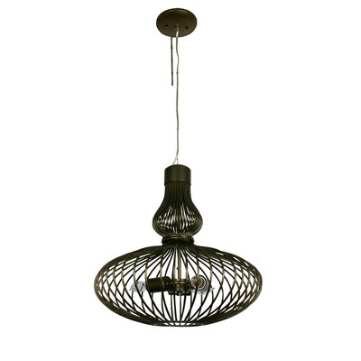Varaluz Clout 3 Light Hookah Drum Foyer Pendant